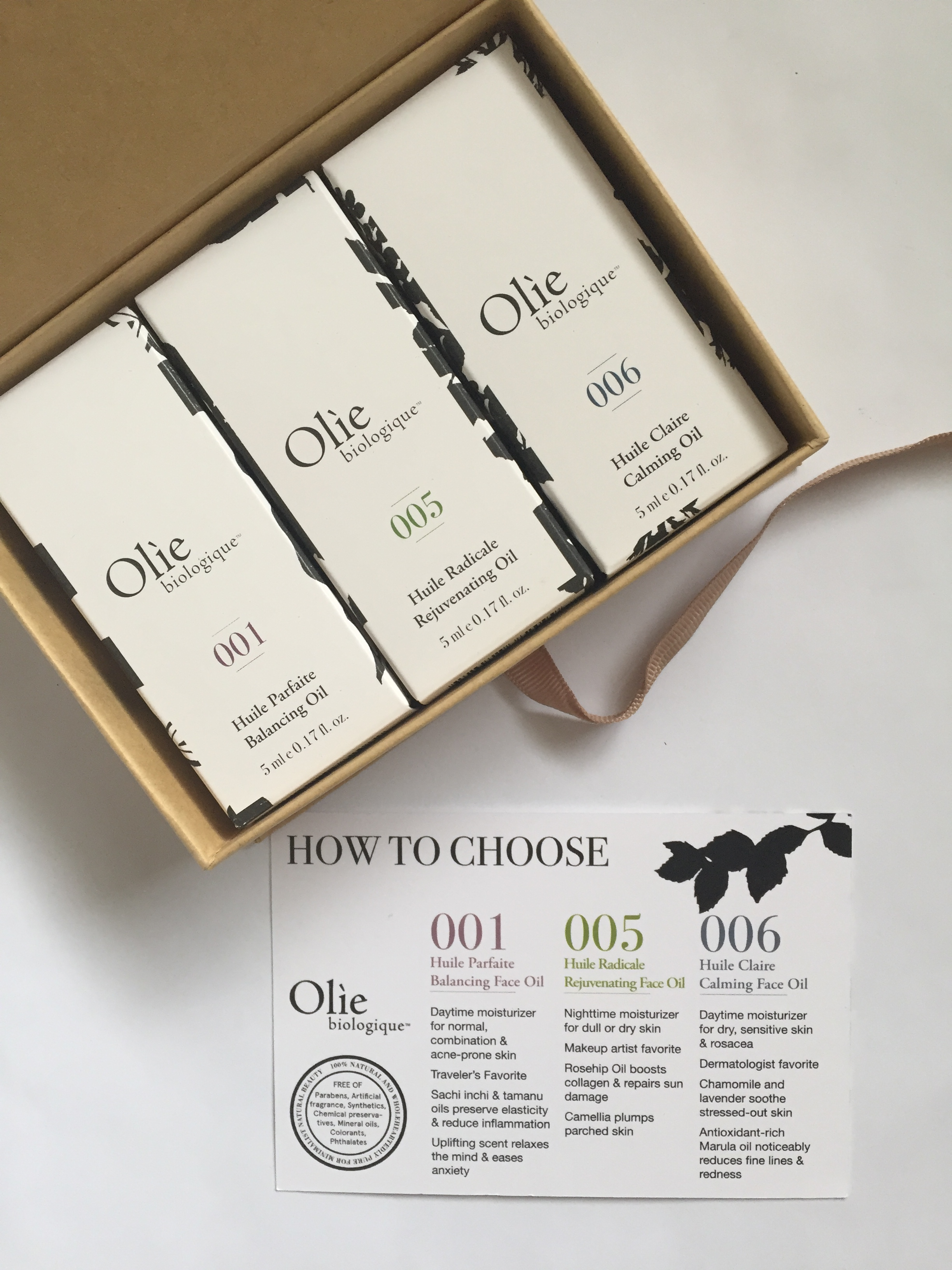 New: Olie Biologique Tres Olie: Trio of Face Oils