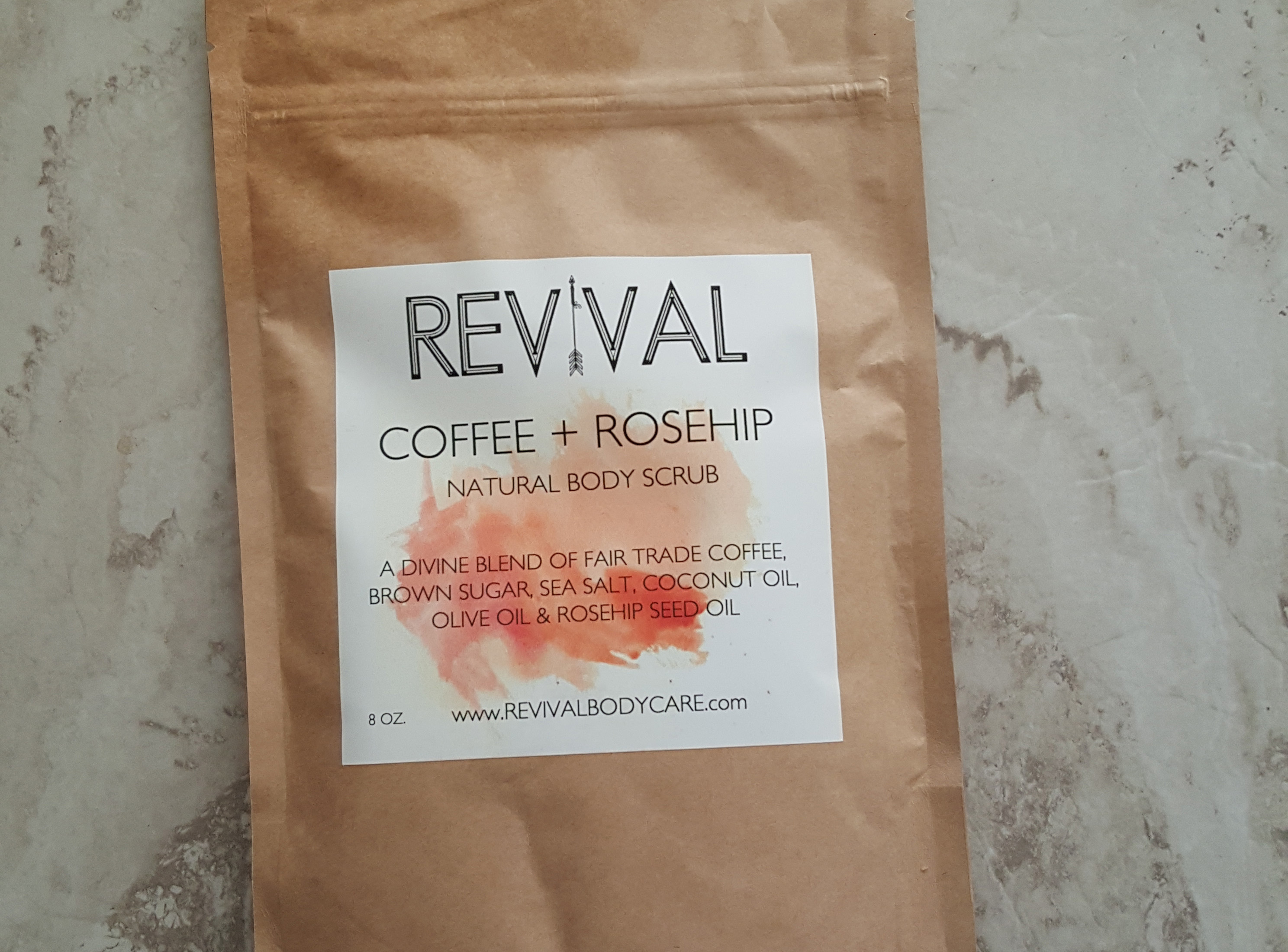 Revival Body Care Coffee + Rosehip Body Scrub