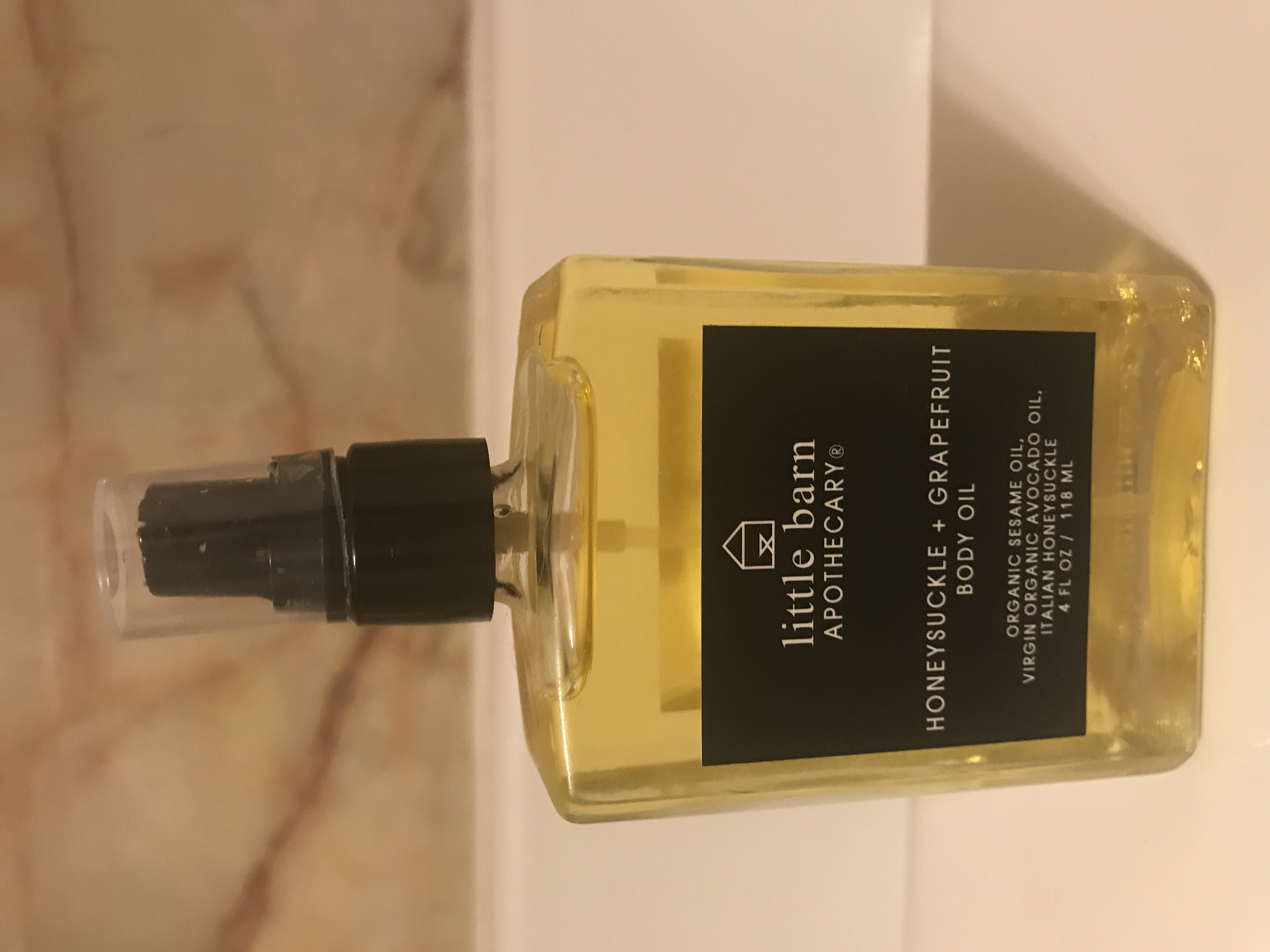 Littlebarn apocathery grapefruit and honeysuckle body oil