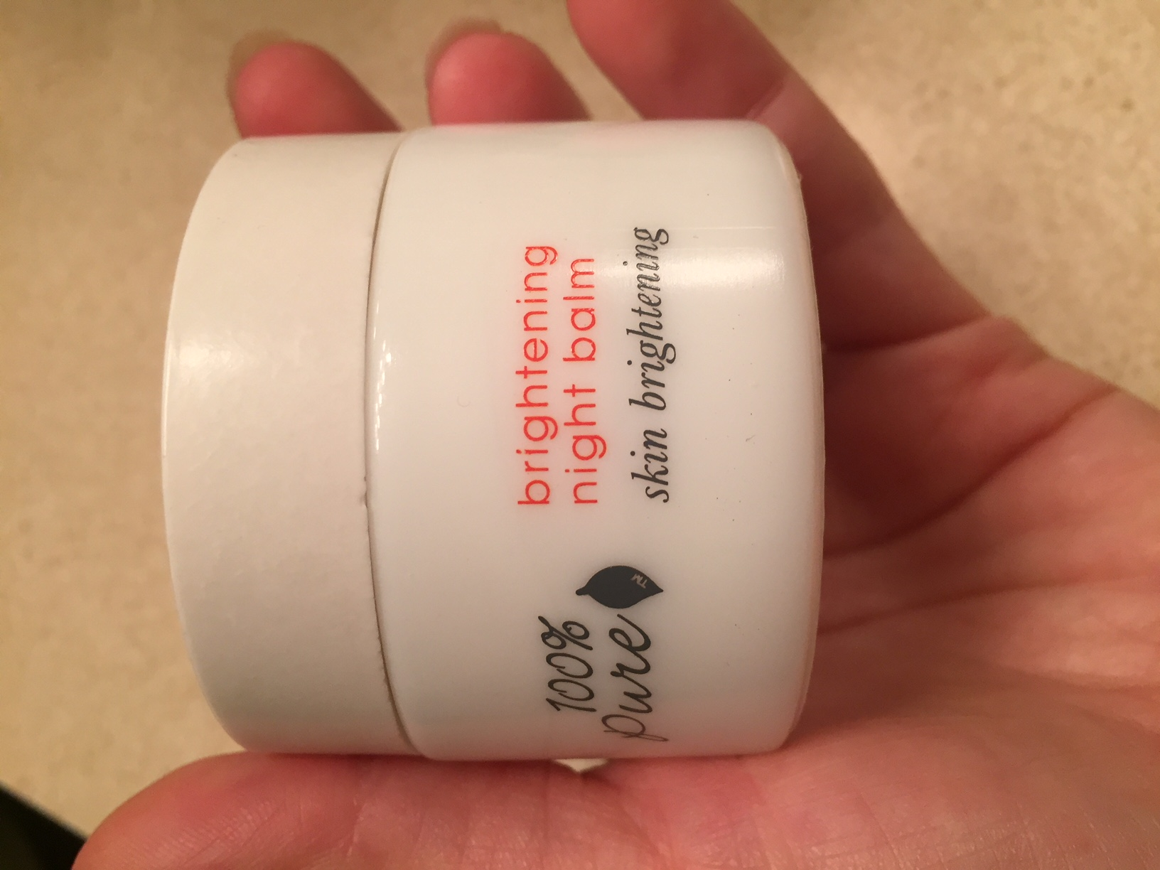100% Pure Brightening Night balm